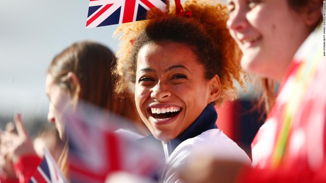 Jazmin Sawyers was a member of Team GB at the Rio Olympics in 2016, where she finished eighth.
