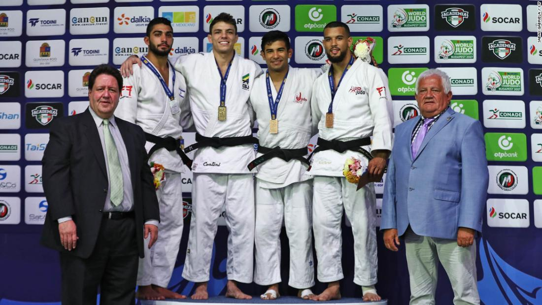 "Another lightweight judoka, Turner (R), got involved in the sport through an after-school program because his mother thought it would keep him out of trouble. ""It's given me discipline and a chance to travel the world,"" the American, a bronze medalist in the 2017 Cancun Grand Prix told CNN. ""If your life is going down the wrong path, judo is definitely something you should give a try. It's the best way to channel your energy and find yourself."""