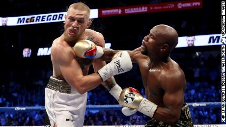 Mayweather beat McGregor in August's fight.