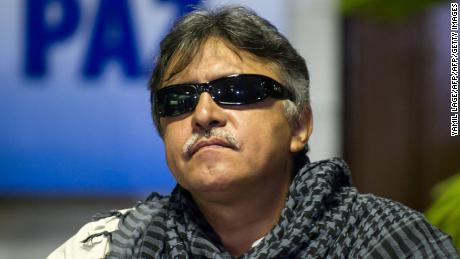 FARC-EP leftist guerrillas Commander Jesus Santrich arrives at the Convention Palace in Havana to attend the peace talks with the Colombian government on September 23, 2014.   AFP PHOTO/Yamil LAGE        (Photo credit should read YAMIL LAGE/AFP/Getty Images)
