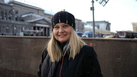"Anna Podorogina, 34, says some football fans are a ""bit aggressive"" but Moscow authorities should be prepared for it."