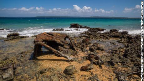 LUGANVILLE, VANUATU - SEPTEMBER 03: Million dollar point site where american military dumped goods off the beach at the end of World War Two , Espiritu Santo, Luganville, Vanuatu on September 3, 2007 in Luganville, Vanuatu. (Photo by Eric Lafforgue/Art In All Of Us/Corbis via Getty Images)