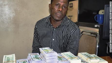Samson Otuedon was arrested by Nigeria's Economic and Financial Crimes Commission.