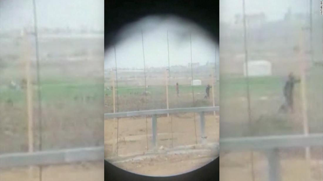 Video shows Israeli sniper shooting Palestinian as soldiers celebrate