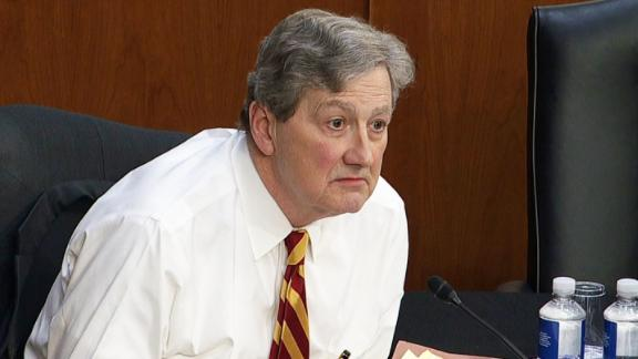 Sen. John Kennedy, pictured here in a file photo, was among the Republican lawmakers who went to Russia to meet with Russian government officials.