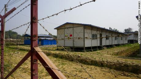 A newly built processing camp for minority Rohingya Muslims is seen in Taung Pyo Letwe, in Rakhine state near Myanmar's border with Bangladesh.