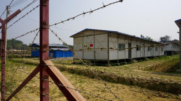 A newly built processing camp for minority Rohingya Muslims is seen in Taung Pyo Letwe, in Rakhine state near Myanmar