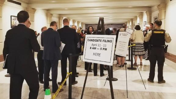 More than 40 people arrived at the Oklahoma State Capitol on Wednesday morning to register to run for office.
