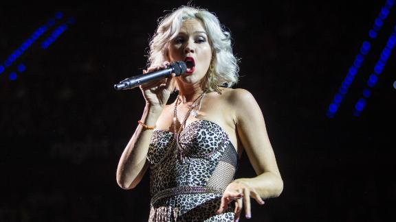 Soul singer Joss Stone performs in the Dutch city of Rotterdam last November.