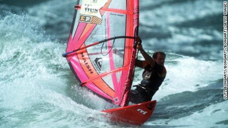 GERMANY - OCTOBER 02:  WINDSURFEN: WC SYLT/2.10.97, Robby NAISH/USA  (Photo by Lutz Bongarts/Bongarts/Getty Images)
