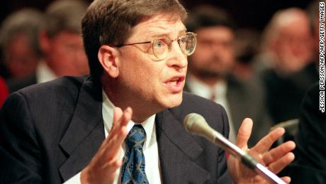 WASHINGTON, DC - MARCH 3:  Microsoft chairman Bill Gates testifies before the US Senate Judiciary Committee 03 March on Capitol Hill in Washington, DC. Gates went to Congress to plead for the right to innovate unfettered by the government.  (Photo credit should read JESSICA PERSSON/AFP/Getty Images)