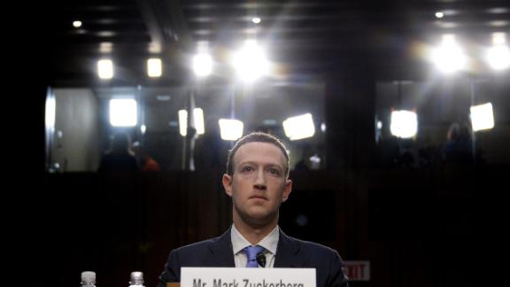 Facebook CEO Mark Zuckerberg testifies before a joint hearing of the US Senate Commerce, Science and Transportation Committee and Senate Judiciary Committee on Capitol Hill, April 10, 2018 in Washington, DC. Zuckerberg offered apologies to US lawmakers Tuesday as he made a long-awaited appearance in a congressional hearing on the hijacking of personal data on millions of users. / AFP PHOTO / JIM WATSON        (Photo credit should read JIM WATSON/AFP/Getty Images)