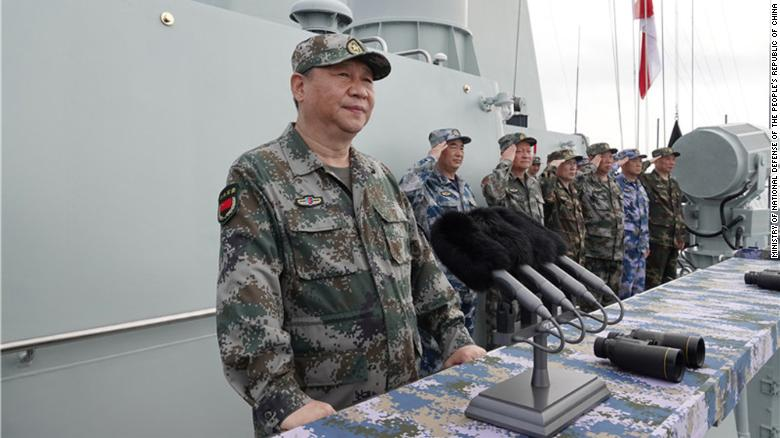 China shows off force in South China Sea