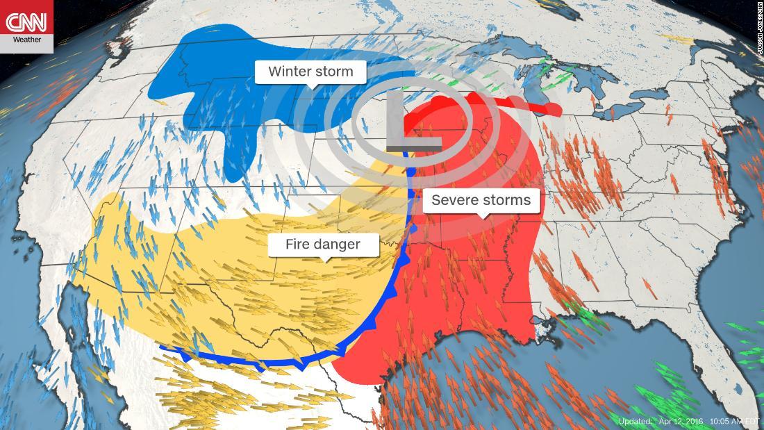 Tornado strikes Arkansas; US braces for triple weather threat - CNN