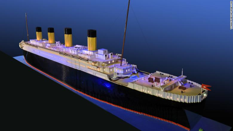 Boy with autism builds world's largaest Lego Titanic replica