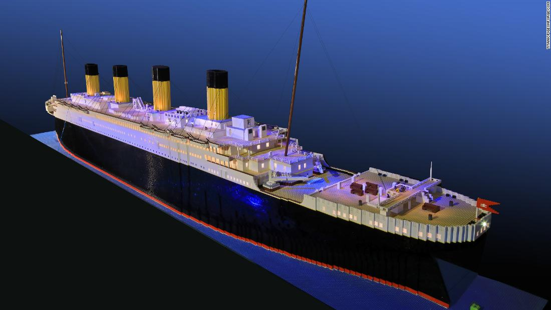 Boy with autism builds world's largest Lego Titanic replica