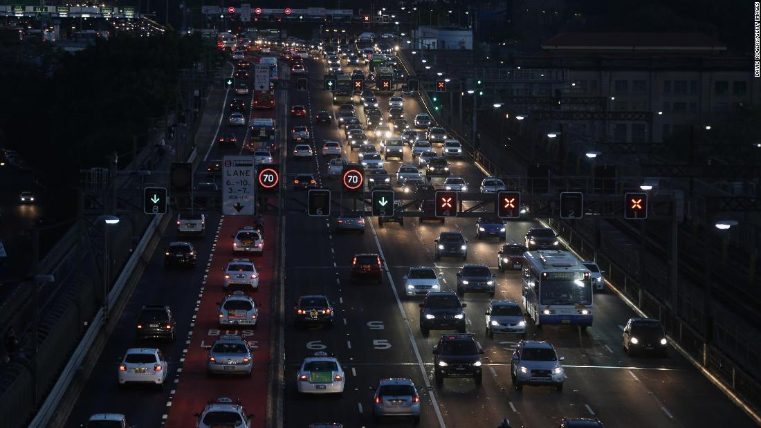 The split aims to address problems such as a population explosion, sky-high housing prices, overcrowded schools, long commutes and a lack of infrastructure. Traffic towards Sydney Harbour Bridge is pictured.