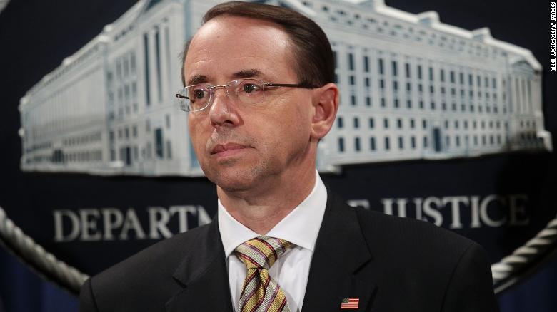 Rosenstein consulted ethics adviser on recusal