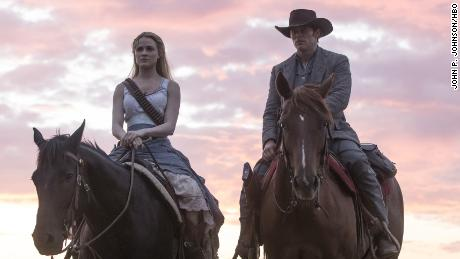 Evan Rachel Wood, James Marsden in 'Westworld'