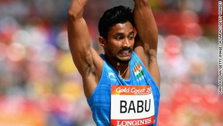 Rakesh Babu was also thrown out of the Games. He was due to compete in Saturday's triple jump final.