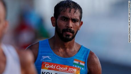 Irfan Kolothum Thodi finished 13th in the race walk at the Commonwealth Games.