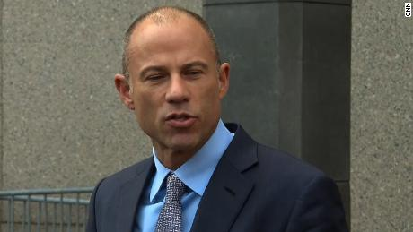 Avenatti outside court room