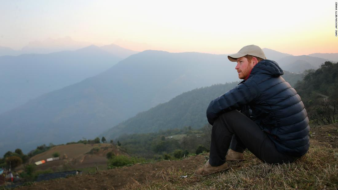 """Every picture has a back story,"" says Jackson. This one was shot in Nepal in 2016. ""We were spending a night in a village up in the foothills and watching the sunrise. That was an amazing moment for me, and I'm sure it was for Prince Harry as well... A lot of the pictures are quite energetic and that's great, but this is more of a rarity and quite pensive."" Leorani, Nepal, March 2016."