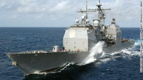 The US Navy's guided-missile cruiser USS Monterey can carry dozens of Tomahawk cruise missiles.
