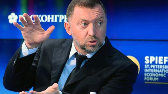 Russian billionaire Oleg Deripaska, who heads aluminium producer Rusal, attends the St. Petersburg International Economic Forum (SPIEF) in Saint Petersburg on June 1, 2017. / AFP PHOTO / Olga MALTSEVA        (Photo credit should read OLGA MALTSEVA/AFP/Getty Images)