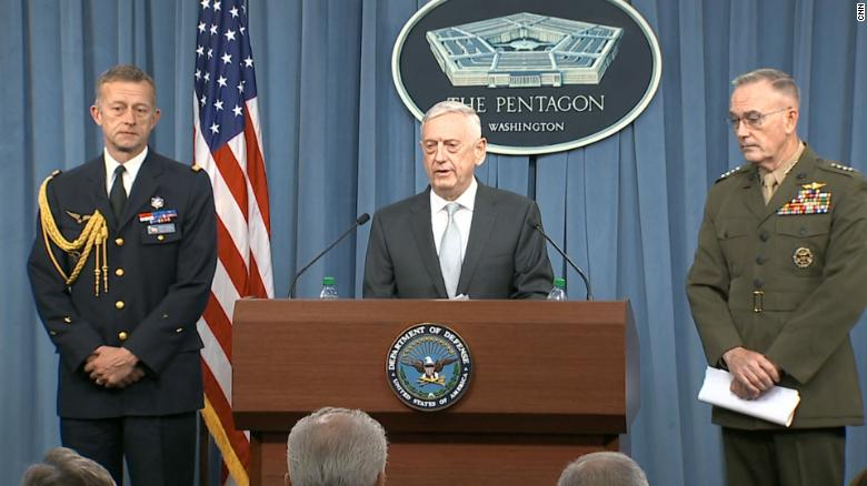 Mattis: This is a one time shot, for now