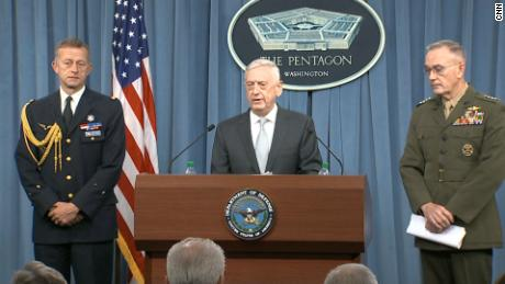 Mattis: This is a one-time shot, for now