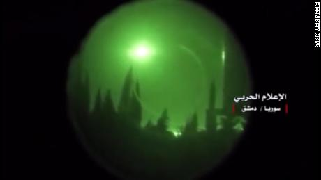 Video reportedly shows missile interception