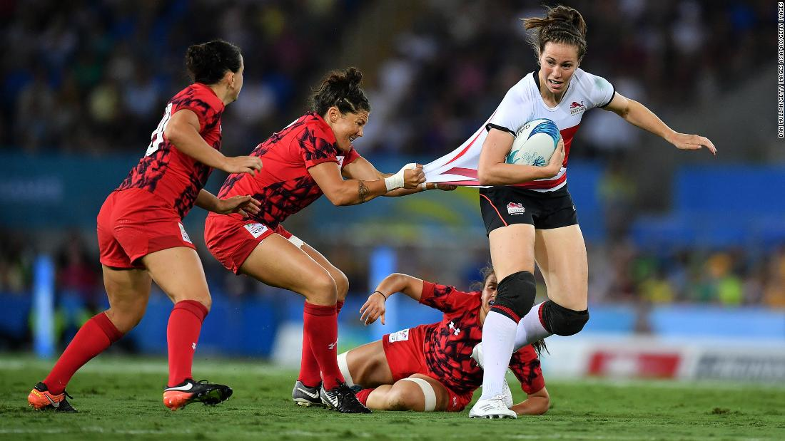 The English will take on world champions New Zealand in their semi final on Sunday. Wales will play Kenya in their placing 5-8 match.