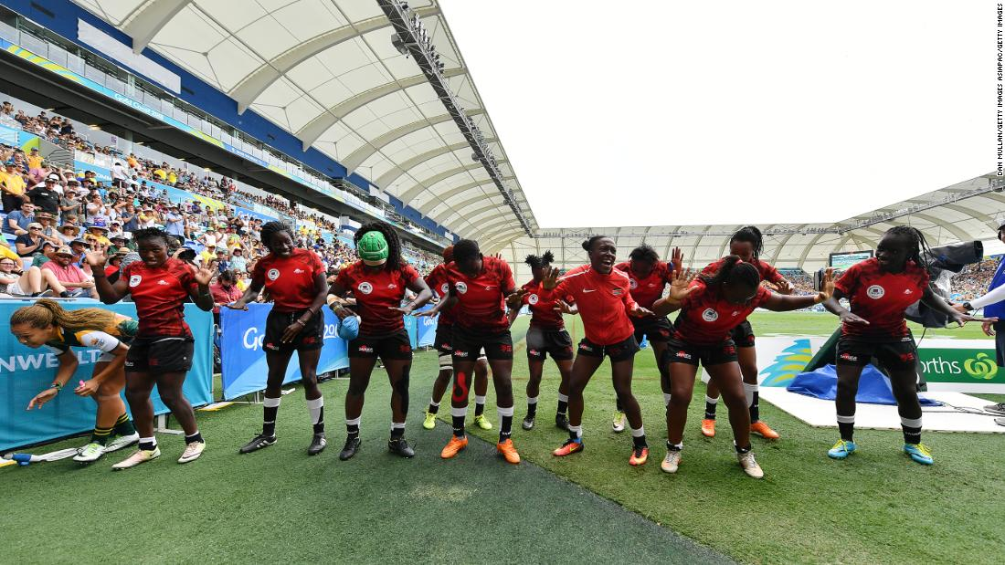 Kenya warmed up for that match with Wales by recording their first win of the Games, defeating South Africa 19-10.