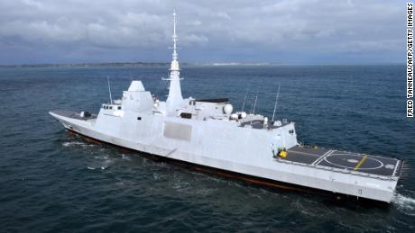 The French multimission frigate Aquitaine