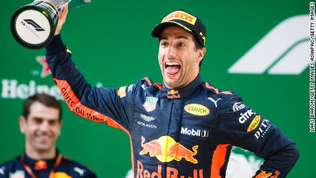The joy on the face Daniel Ricciardo is clear to see after his superb victory in the Chinese Grand Prix in Shanghai.