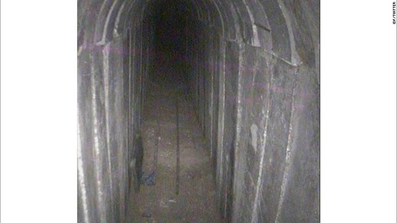 Israel's military destroyed a tunnel originating from Gaza that penetrated tens of meters inside Israeli territory, the Israeli Defense Force announced Sunday.
