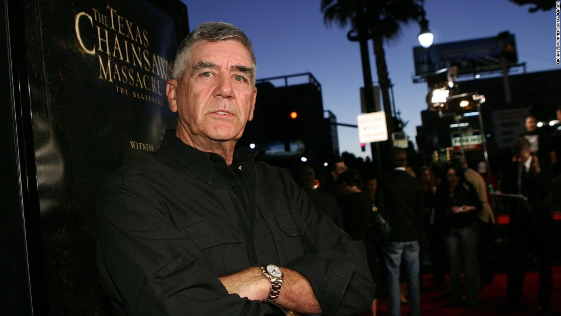 "<a href=""https://www.cnn.com/2018/04/16/entertainment/r-lee-ermey-obit/index.html"" target=""_blank"">R. Lee Ermey</a>, 74, known for his Golden Globe-nominated role as an intimidating drill sergeant in ""Full Metal Jacket,"" died Sunday, April 15, according to a statement from his manager."