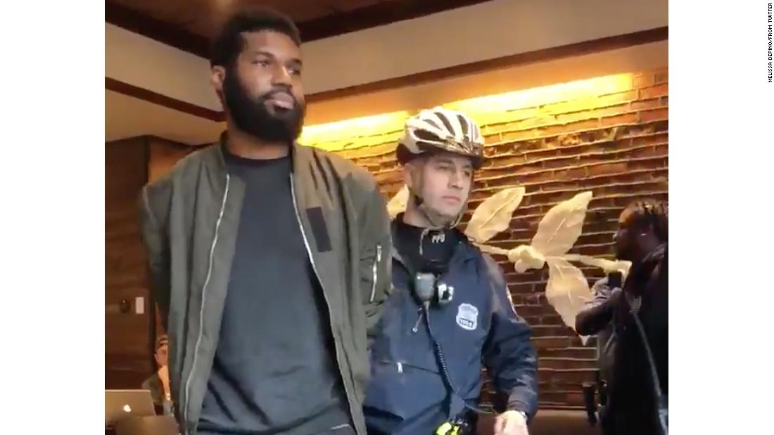 Protesters converge on cafe after arrests, chanting 'Starbucks coffee is anti-black!'