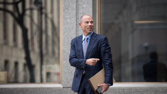 Michael Avenatti, attorney for Stormy Daniels, arrives for a court proceeding regarding the search warrants served on President Donald Trump's longtime personal attorney Michael Cohen, at the United States District Court Southern District of New York, April 13, 2018 in New York City. (Drew Angerer/Getty Images)