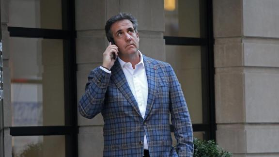 NEW YORK, NY - APRIL 13:  Michael Cohen, U.S. President Donald Trump's personal attorney, takes a call near the Loews Regency hotel on Park Ave on April 13, 2018 in New York City. (Yana Paskova/Getty Images)