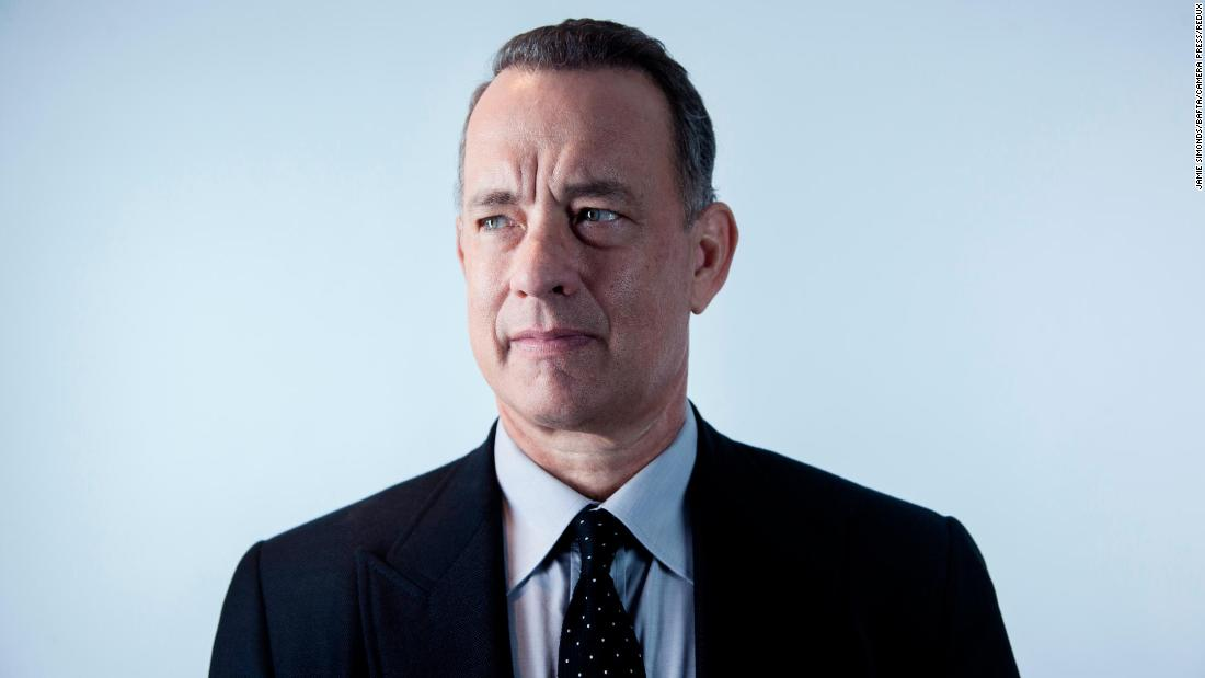 Tom Hanks fought a cold and tears in touching Globes speech