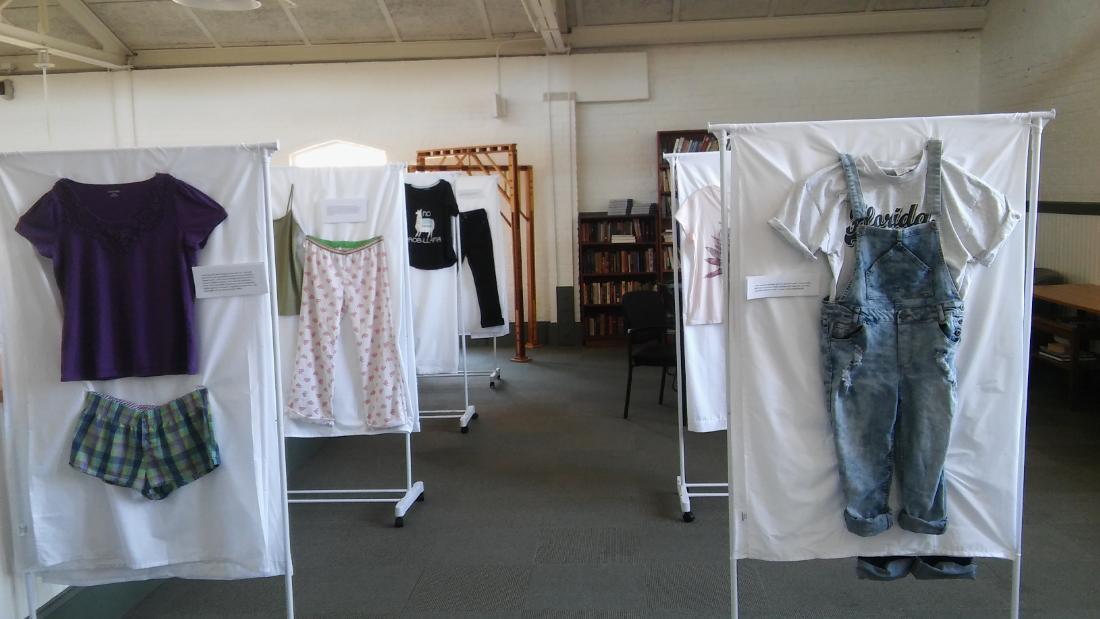 this art exhibit asks  u0026quot what were you wearing  u0026quot  to break