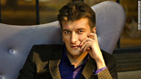 Maxim Borodin fell from his fifth-floor apartment.