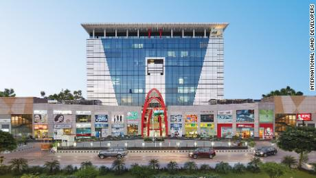 The trade centre in Gurgaon is a mixture of office and retail space.