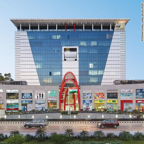 The trade centre in Gurgaon is a mixture of offices and retail development.