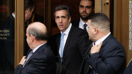 TOPSHOT - President Trumps lawyer Michael Cohen exits the US Federal Court on April 16, 2018, in Lower Manhattan, New York. President Donald Trump's personal lawyer Michael Cohen has been under criminal investigation for months over his business dealings, and FBI agents last week raided his home, hotel room, office, a safety deposit box and seized two cellphones. Some of the documents reportedly relate to payments to porn star Stormy Daniels, who claims a one-night stand with Trump a decade ago, and ex Playboy model Karen McDougal who also claims an affair. / AFP PHOTO / EDUARDO MUNOZ ALVAREZ        (Photo credit should read EDUARDO MUNOZ ALVAREZ/AFP/Getty Images)