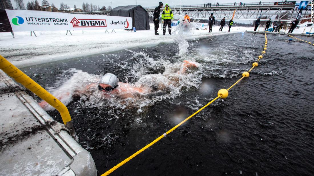 Ice swim racing is not for the faint of heart -- literally - CNN