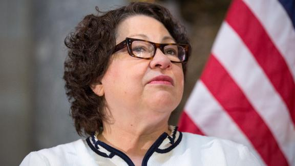 WASHINGTON, DC - MARCH 18: U.S. Supreme Court Justice Sonia Sotomayor participates in an annual Women's History Month reception hosted by Pelosi in the U.S. capitol building on Capitol Hill in Washington, D.C.  This year's event honored the women Justices of the U.S. Supreme Court: Associate Justices Ruth Bader Ginsburg, Sonia Sotomayor, and Elena Kagan. (Photo by Allison Shelley/Getty Images)