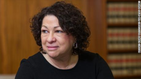 Supreme Court Justice Sonia Sotomayor in her office chambers at the Supreme Court in Washington. Sotomayor is the Court's 111th justice, its first Hispanic justice, and its third female justice. (Photo by Brooks Kraft LLC/Corbis via Getty Images)